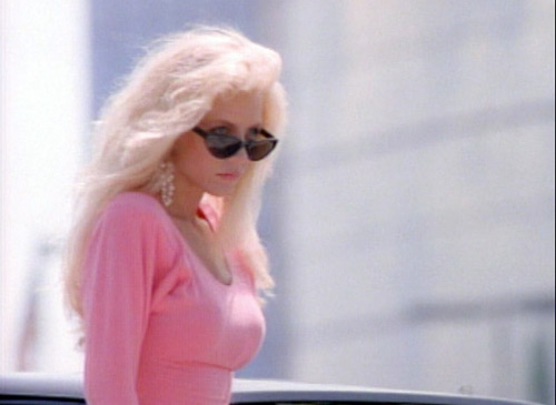 A Blonde in Hot Pink in Silk Stalkings Intro