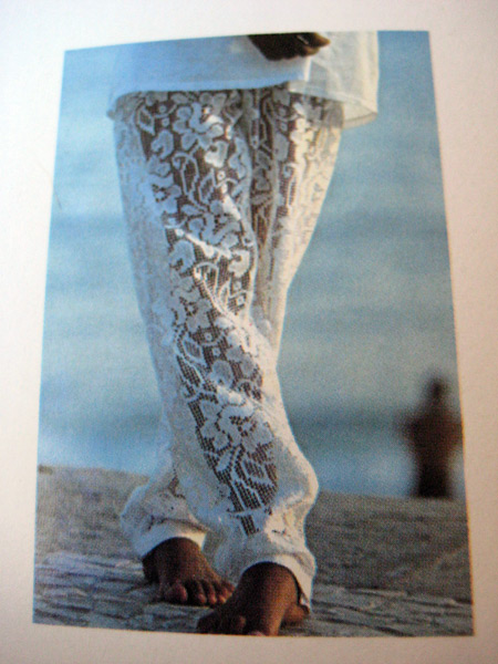 Lace Pants Vogue Bambini 1980s