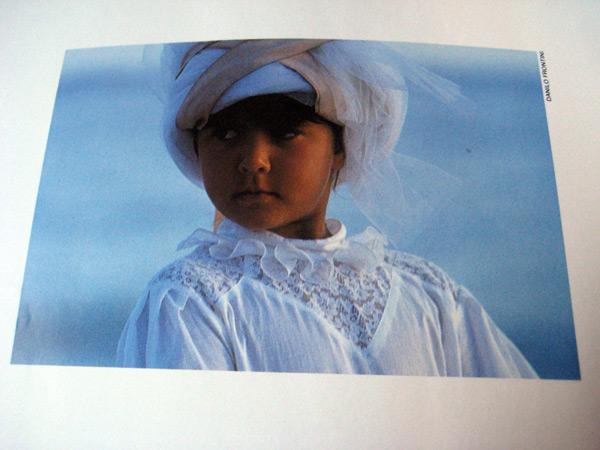 White Turban Vogue Bambini