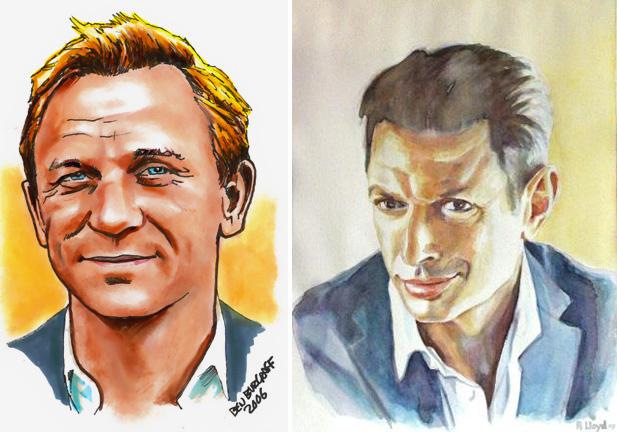 Two of my favorite leading men - Daniel Craig and Jeff Goldblum