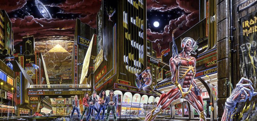 Derek Riggs Eddie Iron Maiden Somewhere in Time