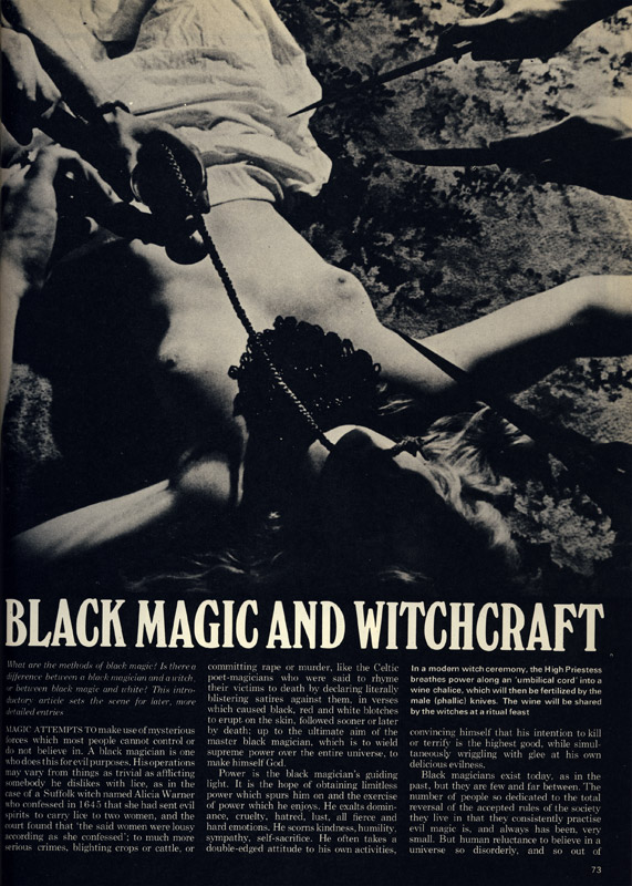 Man, Myth and Magic: Black Magic and Witchcraft