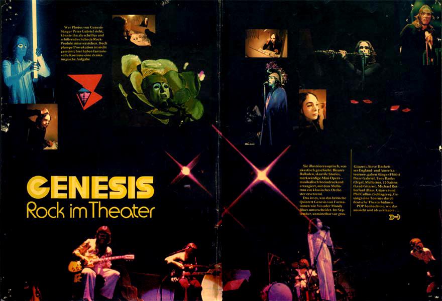 Genesis, Peter Gabriel, live