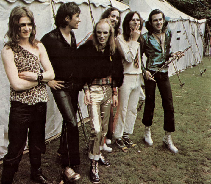 Roxy Music by a Tent in 1972