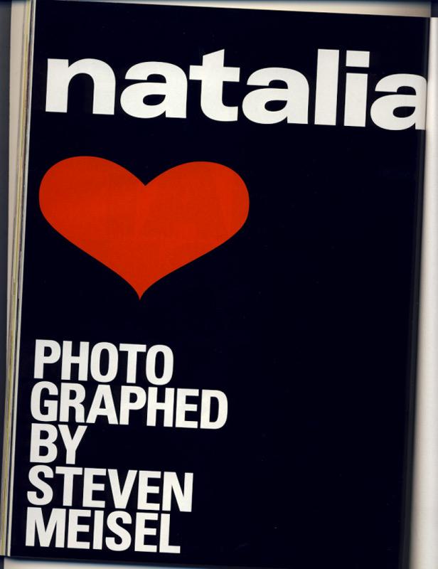Natalia Steven Meisel
