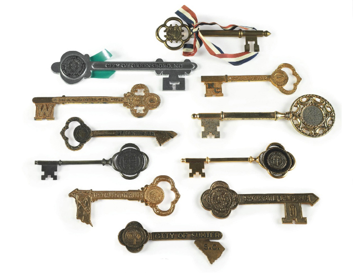 James Brown's collection of Keys to Cities