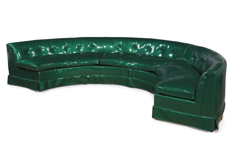James Brown's green couch