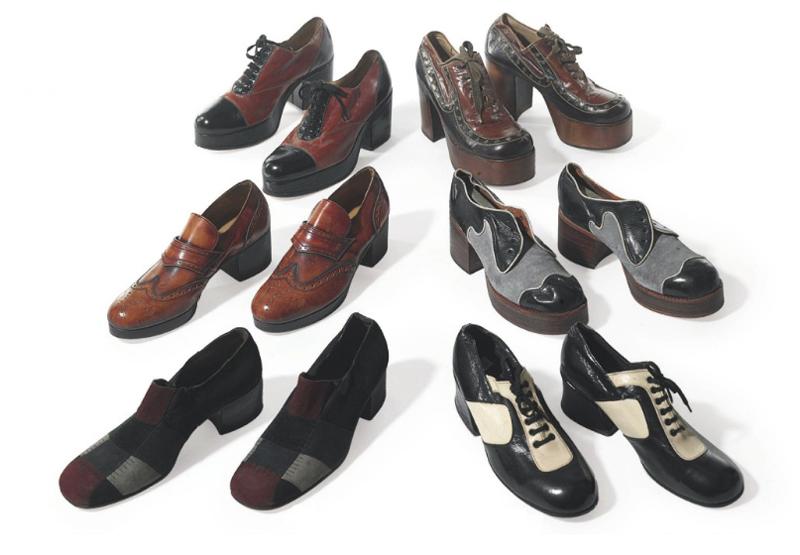 James Brown's platform dancing shoes
