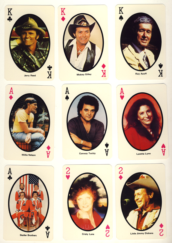 Country Music 1982 Playing Cards