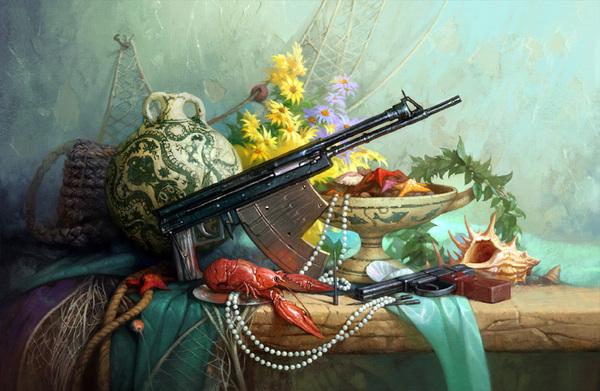 geliographic gun still life