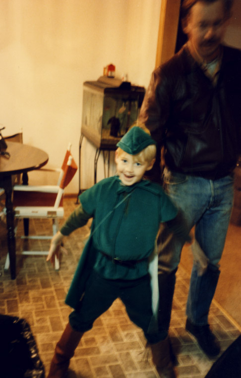 Jim as Robin Hood, Halloween 1985