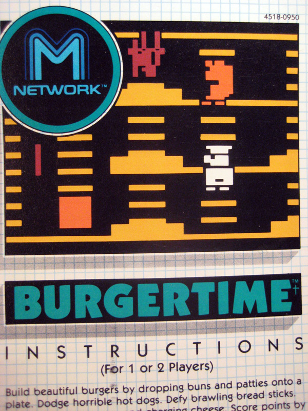 burgertime instructions