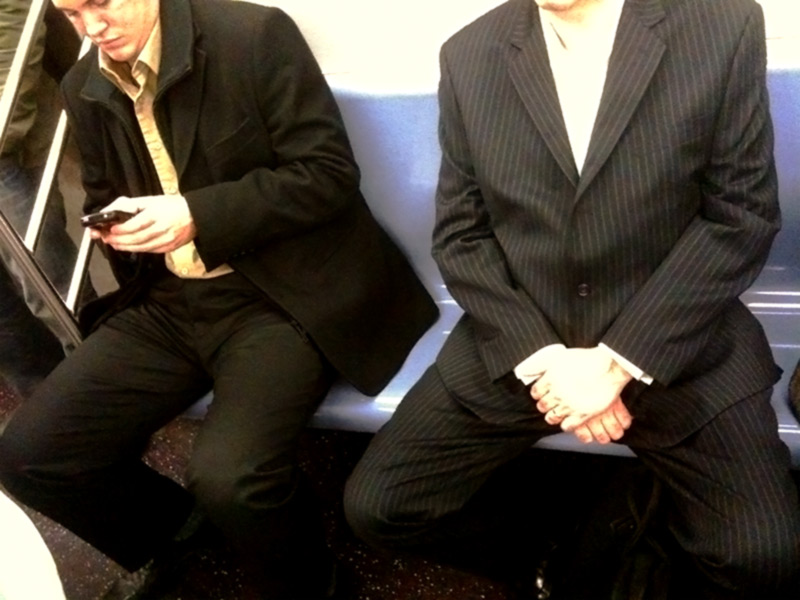 Men Spreading their Legs on the Subway