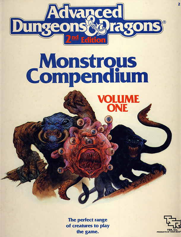 AD&D 2nd Edition Monstrous Compendium - Cover