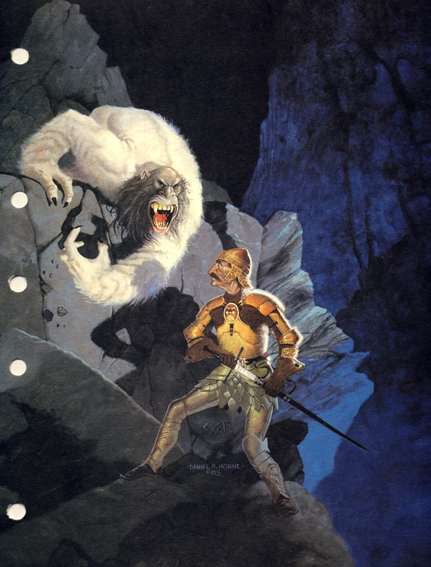 AD&D 2nd Edition Monstrous Compendium - Yeti Tab