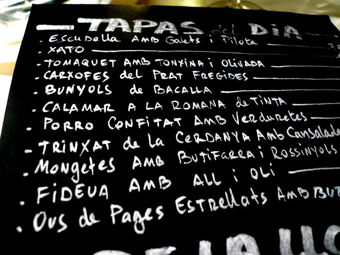 barcelona tapas menu