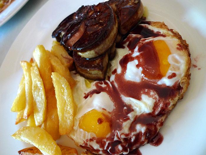 barcelona foie and eggs