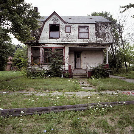 . Abandoned Houses shows Detroit in a state of collapse. His own words